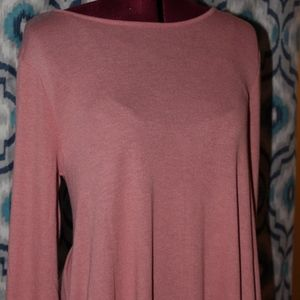 Dusty Rose Basic Dress w/ Pockets